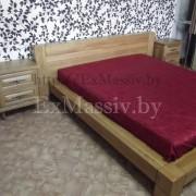 Двуспальная кровать из дерева купить