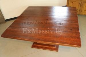 Столешница квадратного стола из дерева