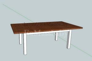 Эскиз кухонного стола из ольхи