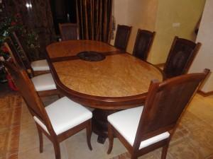 Обеденный стол из массива дуба на заказ в Минске
