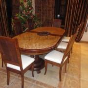 Деревянный обеденный стол под заказ из дуба