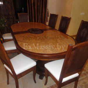 Деревянный обеденный стол под заказ