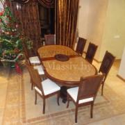 Деревянный обеденный стол из дуба 8 персон
