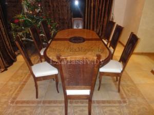 Деревянный обеденный стол из дуба 8 человек