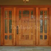 Входные деревянные двери из дуба