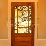 Двери из массива с витражом купить