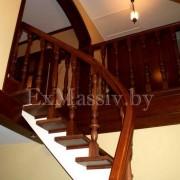 облицовка лестницы деревом на заказ