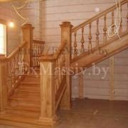 Деревянная лестница из массива ясени цена
