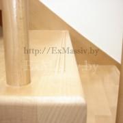 Ступени лестницы с поворотом из дуба