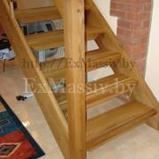 Лестница прямая деревянная цена