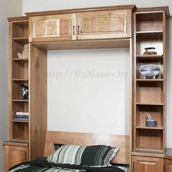 кровать шкаф из дуба