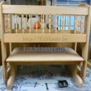 детская кроватка из дерева с люлькой