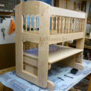 детская кроватка из дерева дизайн