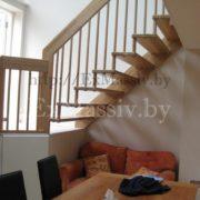 Перила для лестницы из массива ясеня