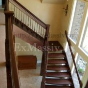 Перила для лестницы из бука