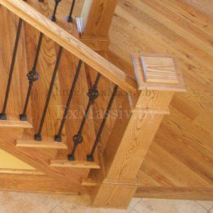Столб для лестницы из ясеня в Минске купить