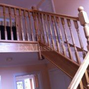 Перила для лестницы из массива
