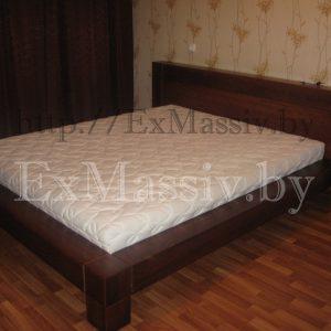 Двуспальная кровать из дуба
