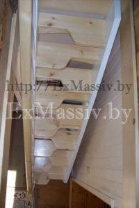 Лестница утиный шаг комбинированная