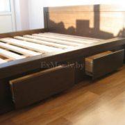 Заказать двуспальную кровать из массива купить