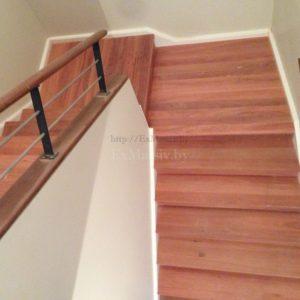 Отделка лестницы деревом на заказ