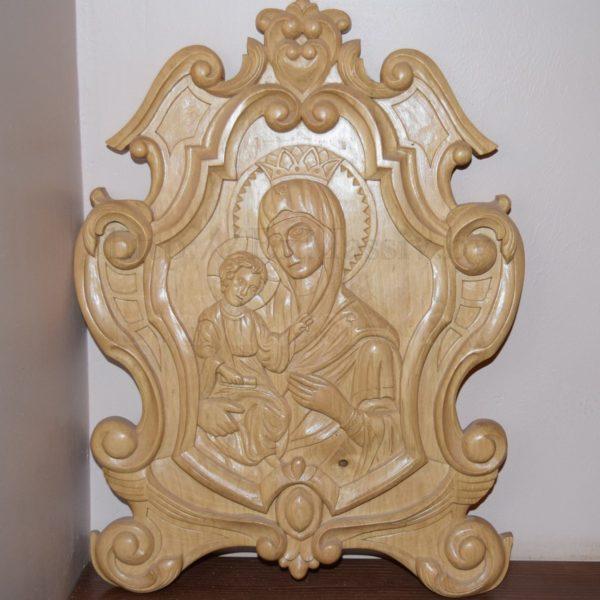 резная икона из дерева ручной работы